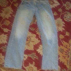 Mens sz 30 x 30 Polo R. Lauren light blue jeans